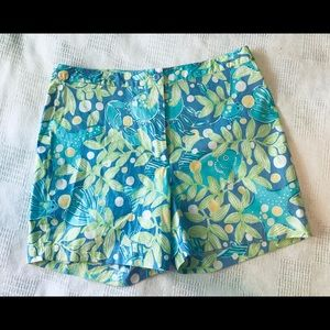 Lilly Pulitzer Shorts Deep Blue Crabby